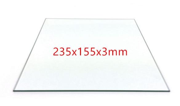 Flashforge 3D drucker ersatzteile beheizte bett borosilikatglas platte für Flashforge Träumer, pro und Creator 235x155mm