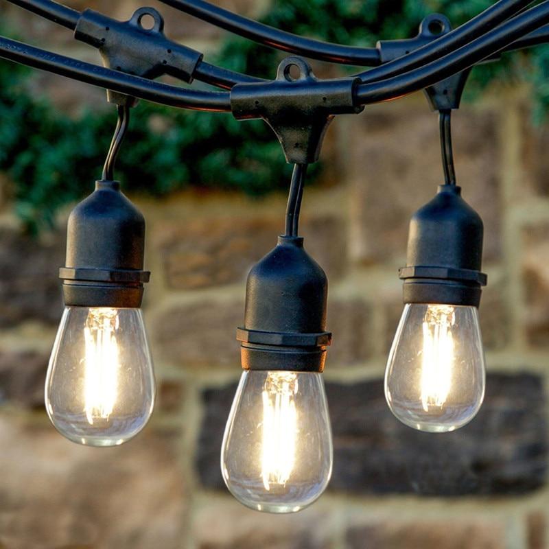 Comercial de alta calidad avanzada 48ft Fancy LED pérgola adorno cadena luz Partido de calentamiento 110 V