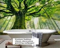 beibehang custom fashion premium stereo wall paper forest park woods landscape background papel de parede wallpaper papier peint