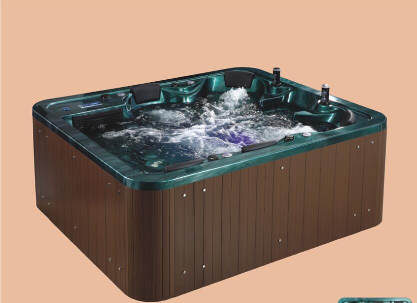 Bañera de hidromasaje de 2390mm, bañera de hidromasaje acrílica para surfear, SPA al aire libre para múltiples personas NS2008