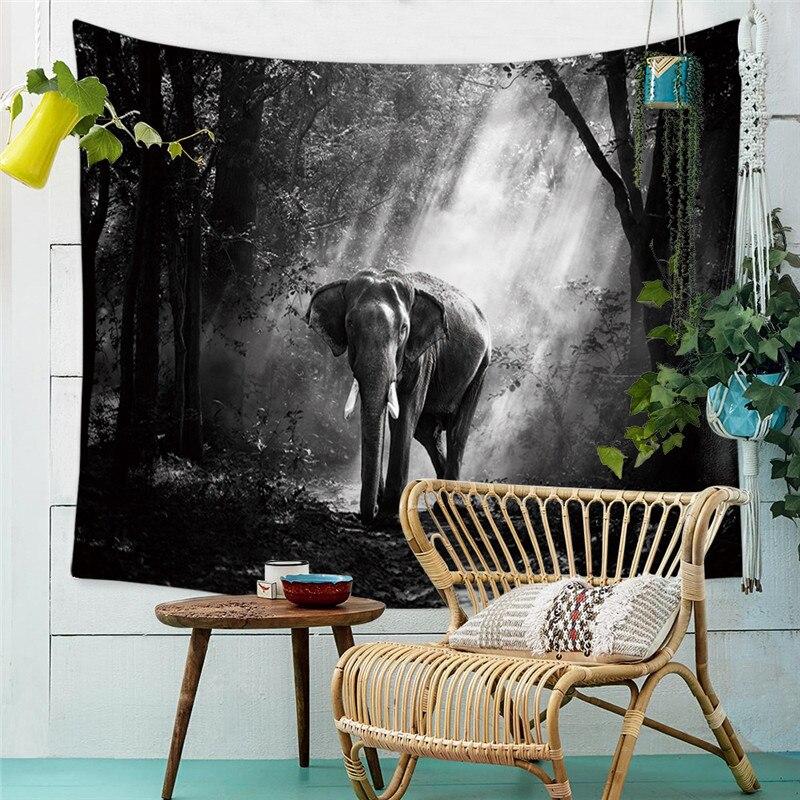 Tapicería de muebles para el hogar con estampado 3D de elefante, colgante de pared de arena, picnic en la playa, manta, tienda de campaña, almohadilla para dormir de viaje