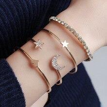 Simple fashion charm star moonlight peach heart star bracelet four-piece jewelry jewelry accessories