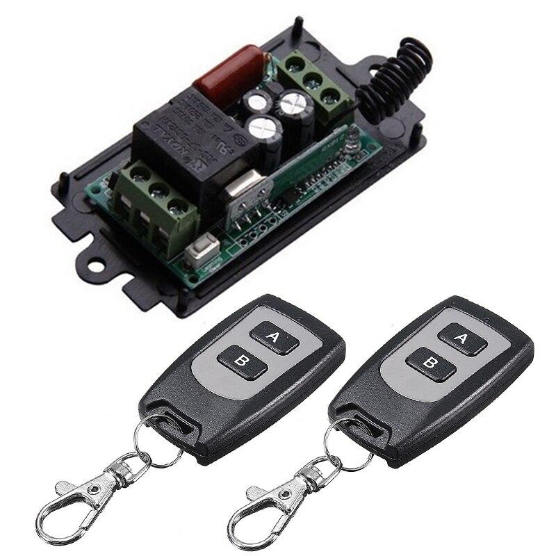 Portátil 1CH canal Relé inalámbrico transmisor interruptor con mando a distancia + receptor controlador remoto 220V 10A Mayitr