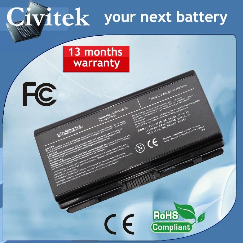 Bateria PA3615U-1BRM PA3615U-1BRS L40 PABAS115 para Toshiba 10.8V 4400mah