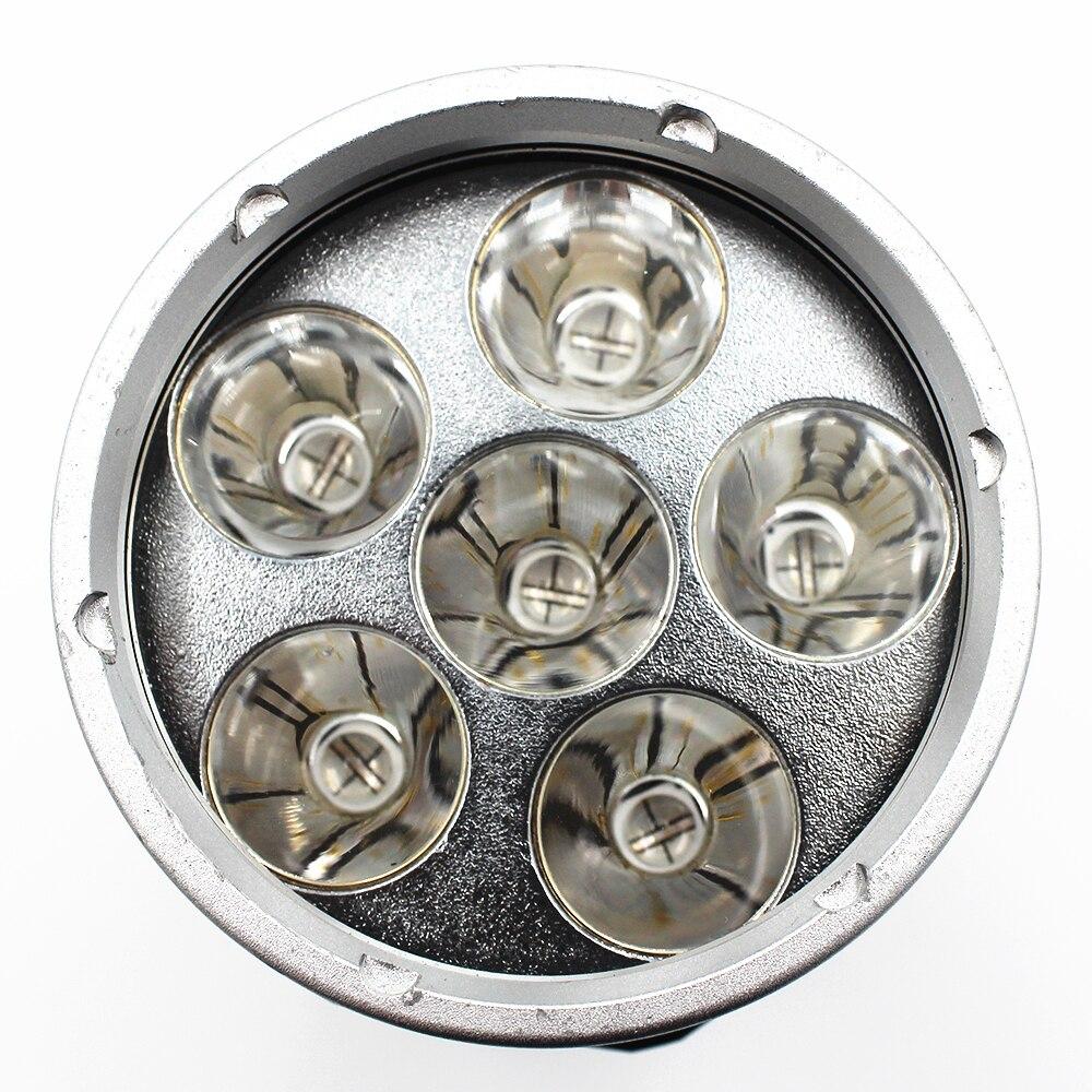 Powerful 395nm 6x Ultraviolet UV LED diving flashlight  Purple light Waterproof underwater scuba torch lamp Use 26650 battery enlarge