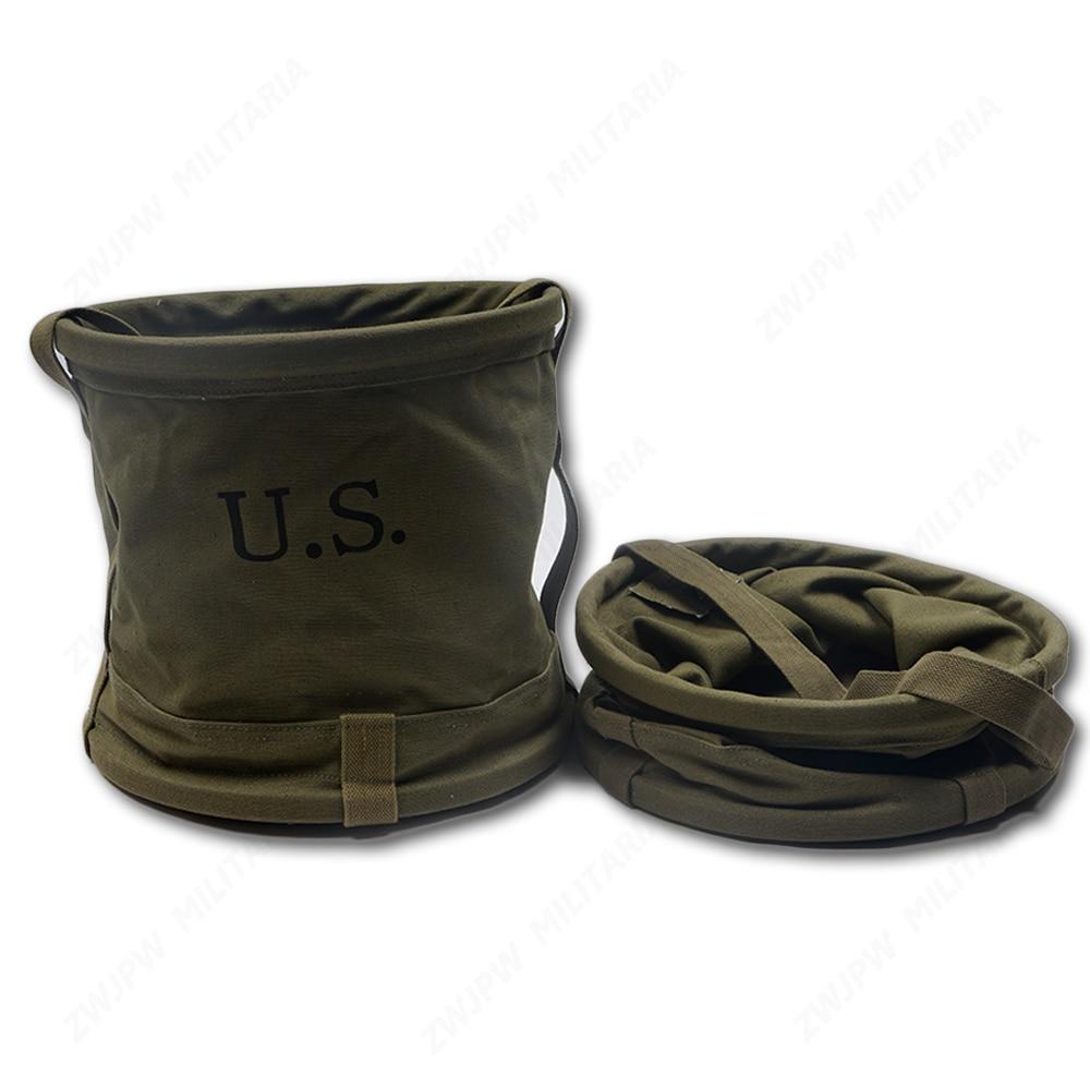 Армейское зеленое парусиновое ведро для воды, Складная Водонепроницаемая сумка для рыбалки на открытом воздухе, на короткий срок, китайска...