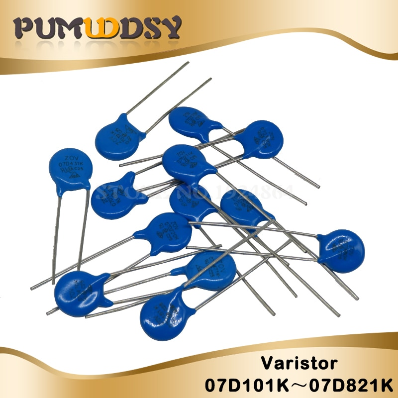 20 sztuk piezorezystor Varistor serii 7D 10D 14D 7D151K 7D220K 10D101K 10D330K 14D471K 14D220K 7D431K 10D621K 10D561K rezystor