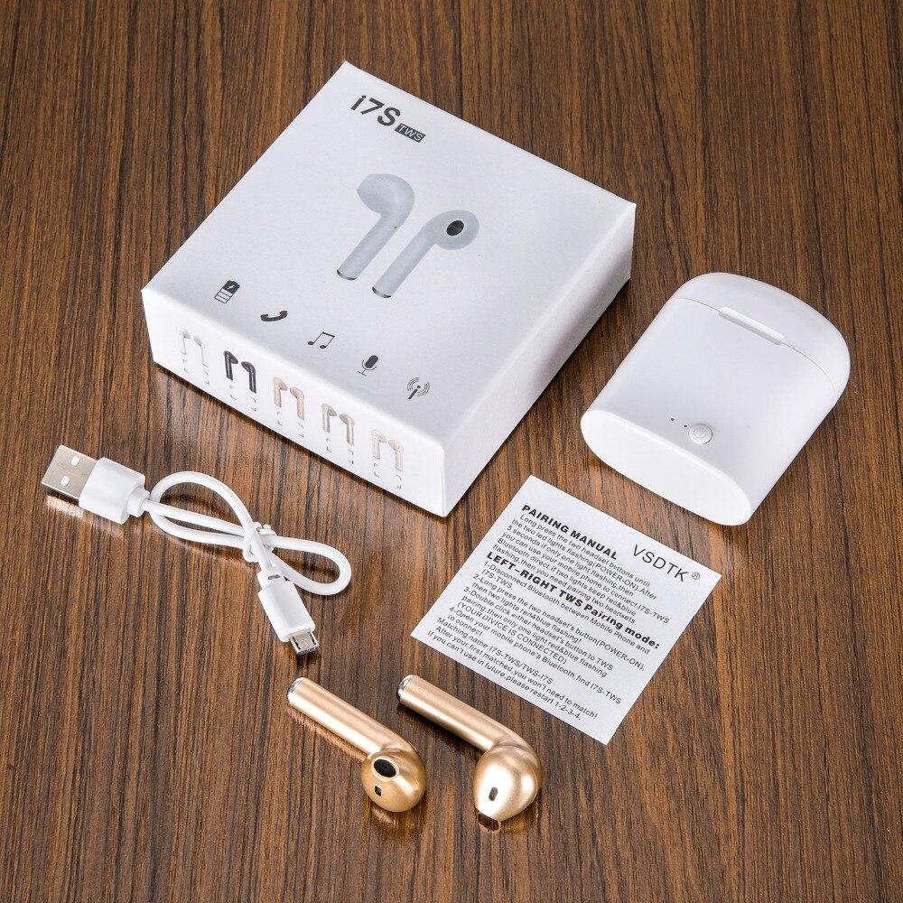 Vsdtk i7 i7s tws bluetooth fones de ouvido sem fio estéreo com caixa carregamento para iphone xiaomi huawei smartphones