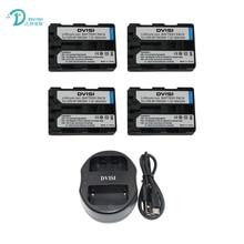 DVISI 7.2в 1800 мАч NP-FM500H NPFM500H батарея для камеры + USB двойное зарядное устройство для Sony A57 A65 A77 A350 A550 A580 A900 цифровая батарея