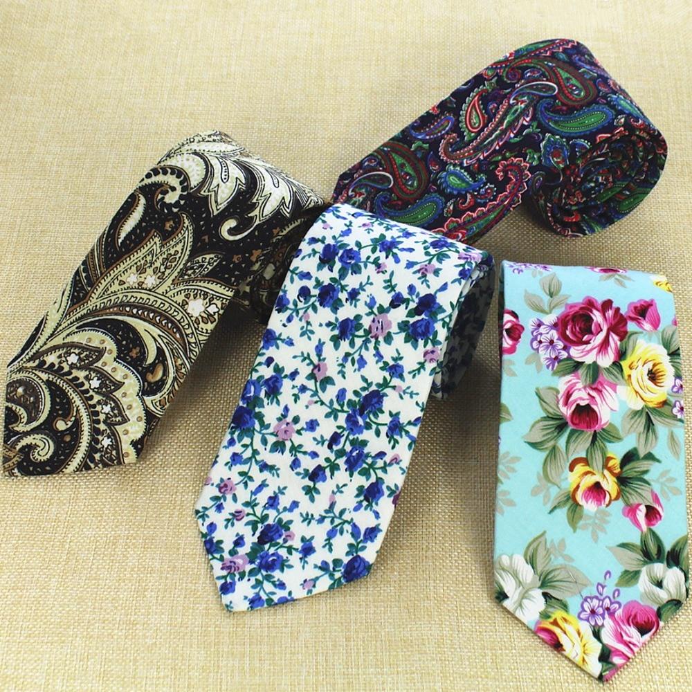 Nuevo diseño de moda GUSLESON, Corbatas de algodón con corbata de 8 cm para hombre, Corbatas de Cachemira para boda, Corbatas florales para fiesta, Corbatas para el cuello