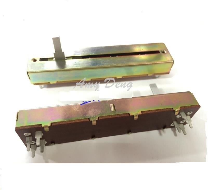 5 шт./лот японский 8,8 см двойной раздвижной потенциометр B50K * 2 15 мм объемный фейдер длинной оси