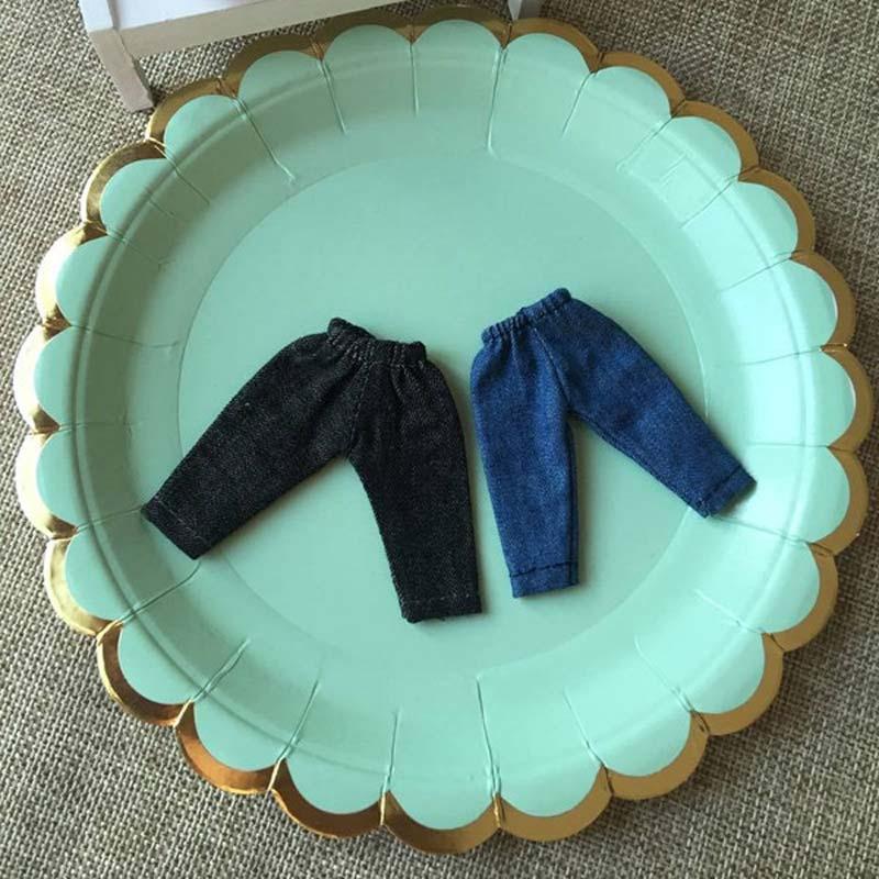 1 Uds 1/12 BJD muñeca de moda Denim Jeans pantalones para obitsu11 OB11 accesorios de ropa de muñeca