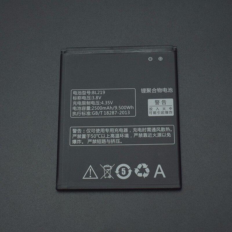 Para lenovo a880 bateria 2500mah bl219 substituição da bateria para lenovo a880 s856 a889 a890e s810t a850 + a916 telefone inteligente