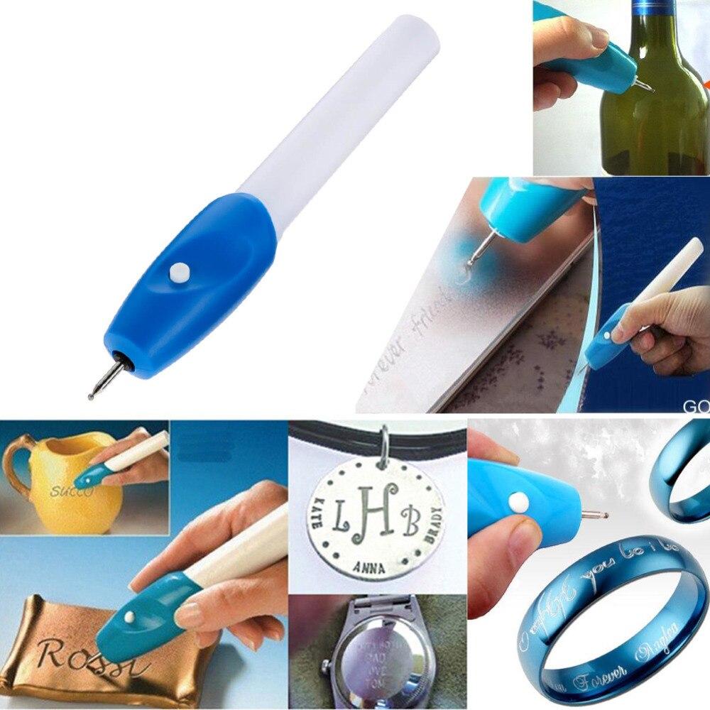 Gran calidad útil Mini grabado eléctrico pluma máquina tallar herramienta para DIY joyería Metal vidrio grabador pluma Kit