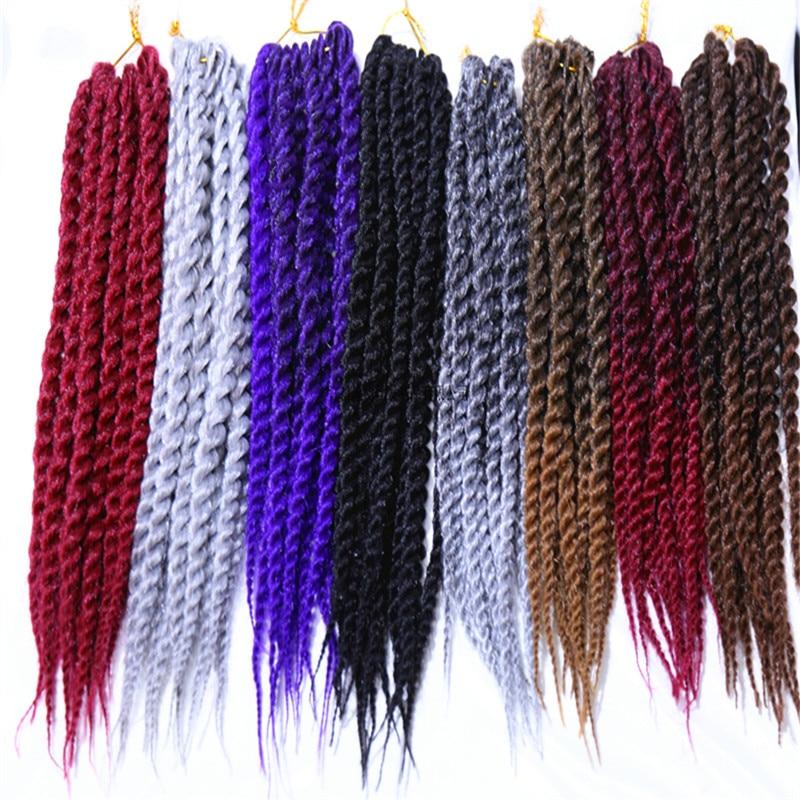 Extensiones de pelo trenzado Jumbo para mujeres negras, pelo sintético Afro 14 18 24 pulgadas-4, 6 paquetes de trenzas de ganchillo de Feibin