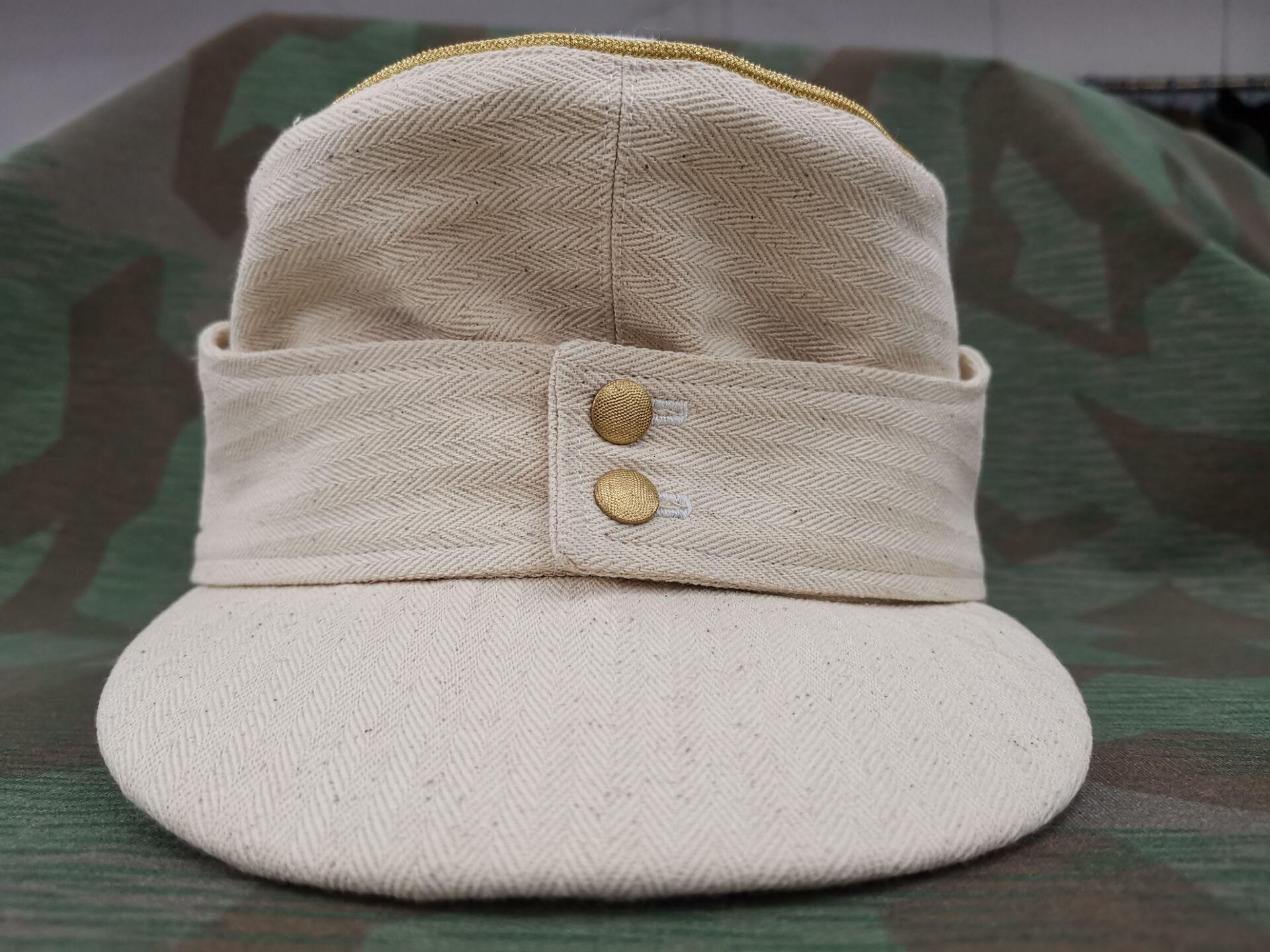 WW2 E.M.D الألمانية. قبعة ضابط M43. HBT