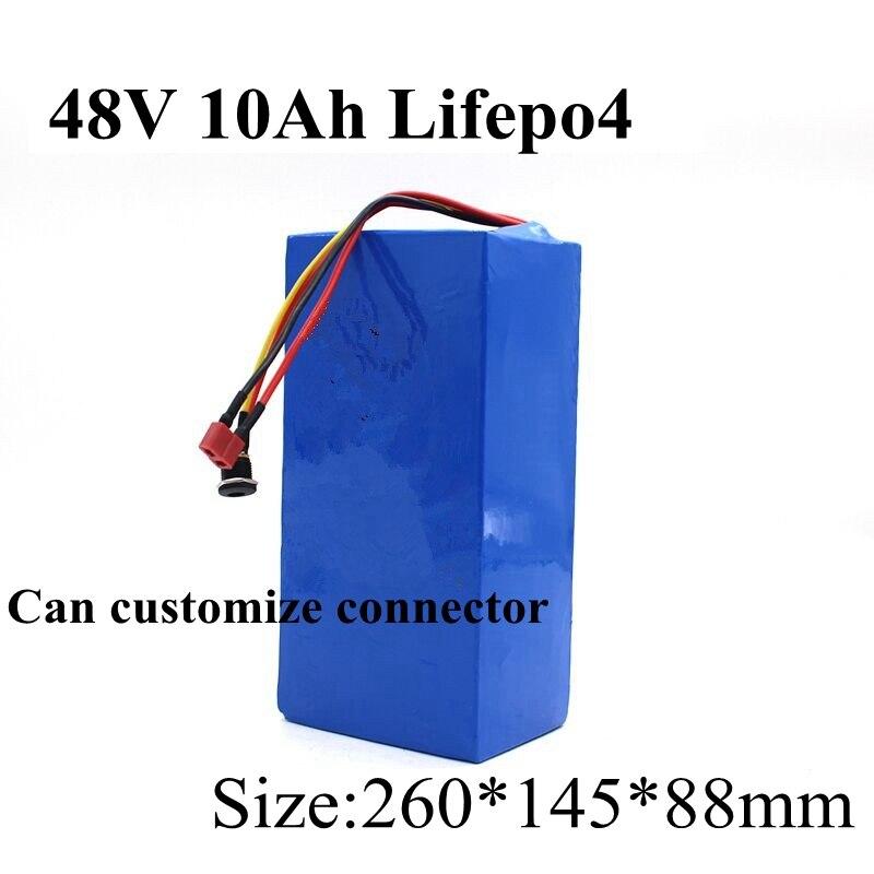 48 v 10ah Lifepo4 batería con BMS 16 s recargable para 1500 w Scooter Ebike bicicleta Dune Buggy de césped + 3A cargador