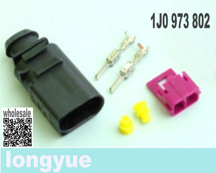 Kit de 10 enchufes longyue de 2 vías macho conector FCI 1J0 973 802 1J0973802