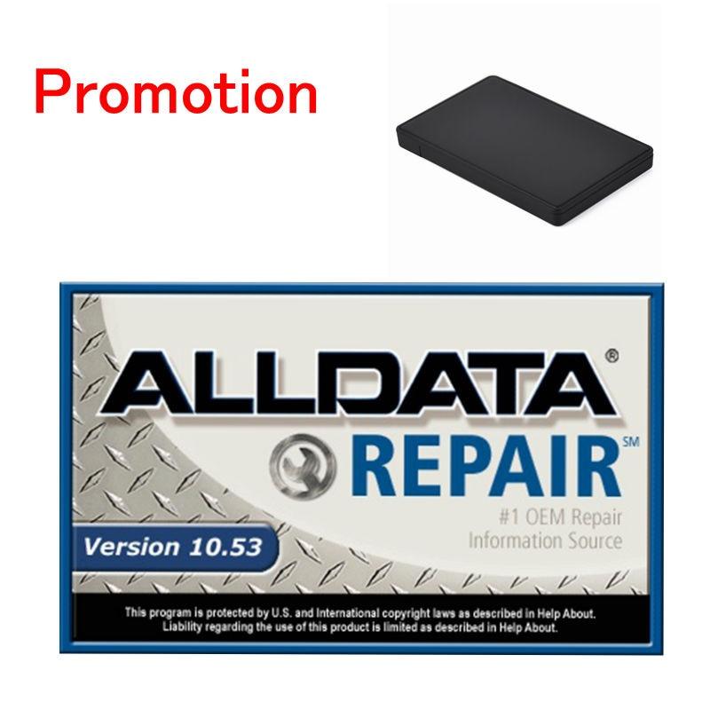 Software de reparación de automóviles Alldata 10,53 V software de reparación de todos los datos de coche con 750GB USB Disco Duro alldata con soporte postventa