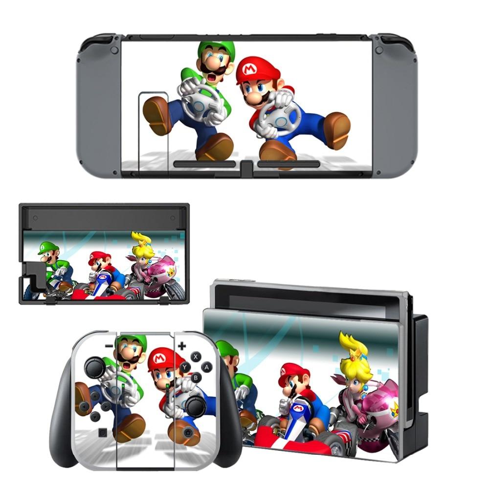 Наклейка для Nintendo Switch Skins Mario Kart 8 наклейка для Nintendo switch Console Joy-con Controller Dock Sitckers