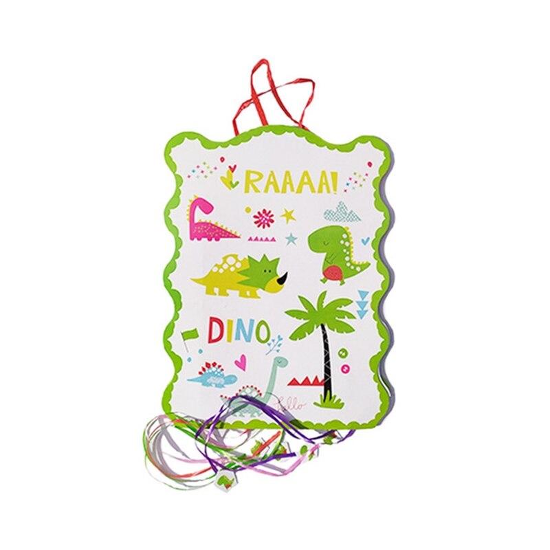 pinata 27*49 boy children favor Dinosaur theme happy birthday party supplies play party game bingo paper folding pinata
