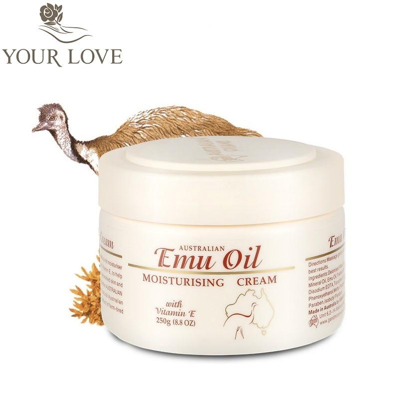 Aceite de Emu de Australia GM crema facial altamente hidratante, crema corporal, suavizante natural de la piel con vitamina E para pieles sensibles secas