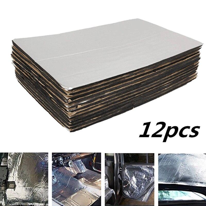 Novo 12 pçs 5mm firewall deadener som escudo térmico do carro isolamento deadening almofada da esteira