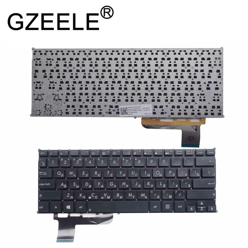 GZEELE New RU laptop keyboard for Asus E200H E200HA russian layout black or white