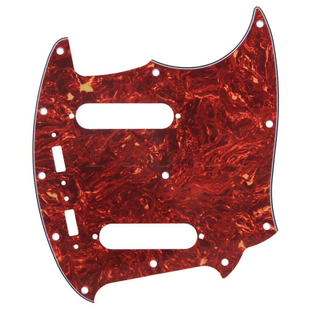 Чехол Yibuy для гитары Mustang, коричневый корпус с черепашками, 4ply, защита от царапин