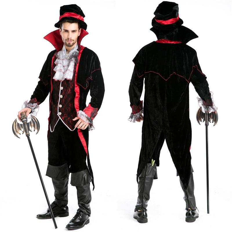 Men Luxury Man Vampire  Masquerade Diary Vampire King Dracula Cosplay Victorian Period Costume Halloween Cosplay Custumes
