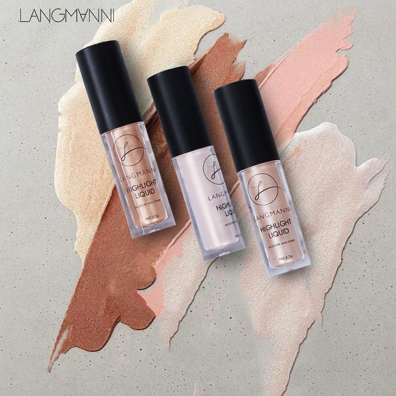LANGMANNI Makeup Face Glow Liquid Highlighter Contouring Makeup Face Brightener Concealer Primer Bas