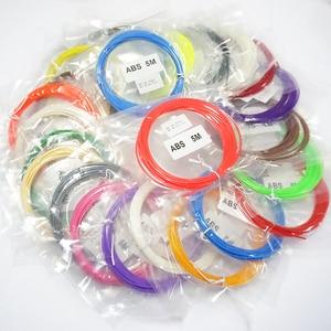 3D Pen ABS 3D Printer Filament ABS 5 Meters 22 Colors Birthday Gift 1.75mm 3D ABS Filament 3D Printer Pen Filament Wire Threads