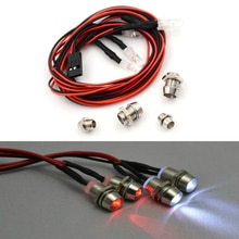 4pcs RC Model Drift Car LED Night Light 5mm & 3mm Headlamps RC Parts RC Car