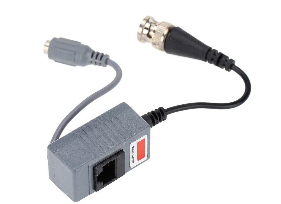 ESCAM 10pcs CCTV Camera Accessories Audio Video Balun Transceiver BNC UTP RJ45 Video Balun with Audio Power over CAT5/5E/6 Cable enlarge