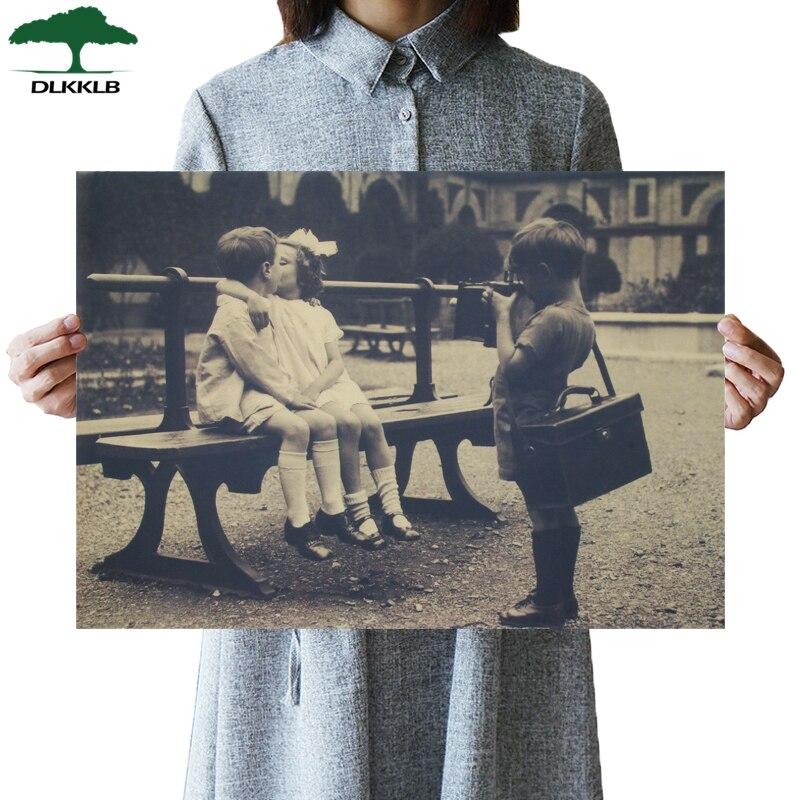 DLKKLBClassic постер фильмов в стиле винтаж Маленький фотограф крафт-бумага кафе домашний декор живопись искусство наклейки на стену 51.5x36cm