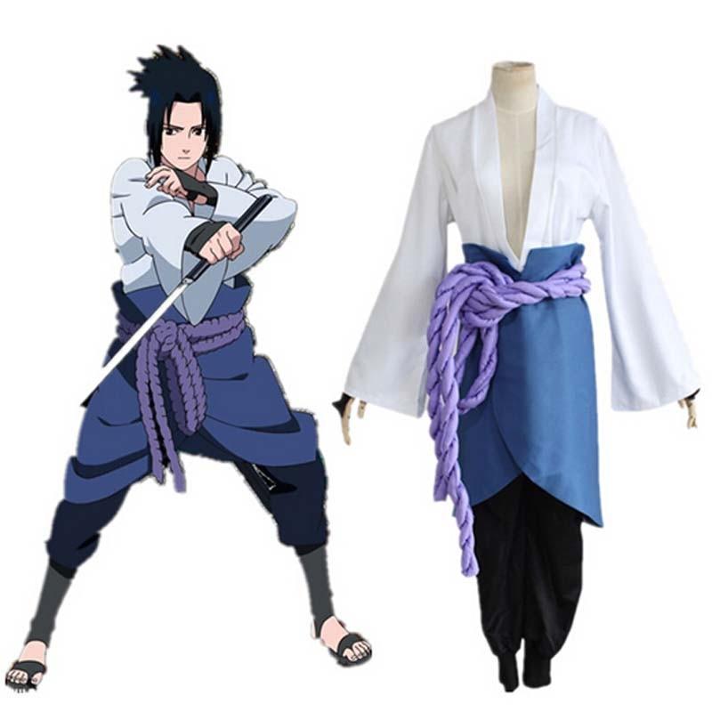 زي تنكري Uchiha Sasuke ، ملابس من الجيل الثالث ، أنيمي هاروتو شيبودن ، ملابس حفلات الهالوين (بليزر + سروال + حزام خصر + واقي لليد