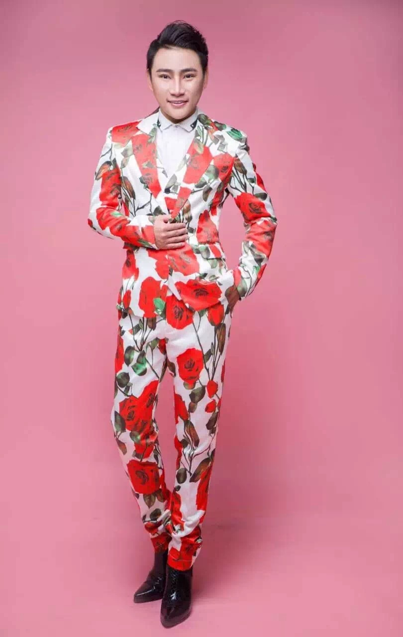 (سترة + سترة + بنطلون) الأزياء الذكور 3d روز زهرة الحرير دعوى الرجال الزفاف الرسمي اللباس ملهى ليلي تظهر أداء dj المغني دعوى