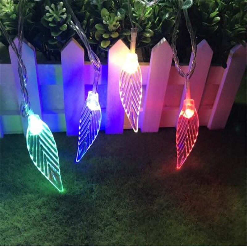 10 м 50LED прозрачная гирлянда с листьями, рождественское Освещение для дома, вечеринки, Пасхи, свадьбы, забор, садовый газон, Декор