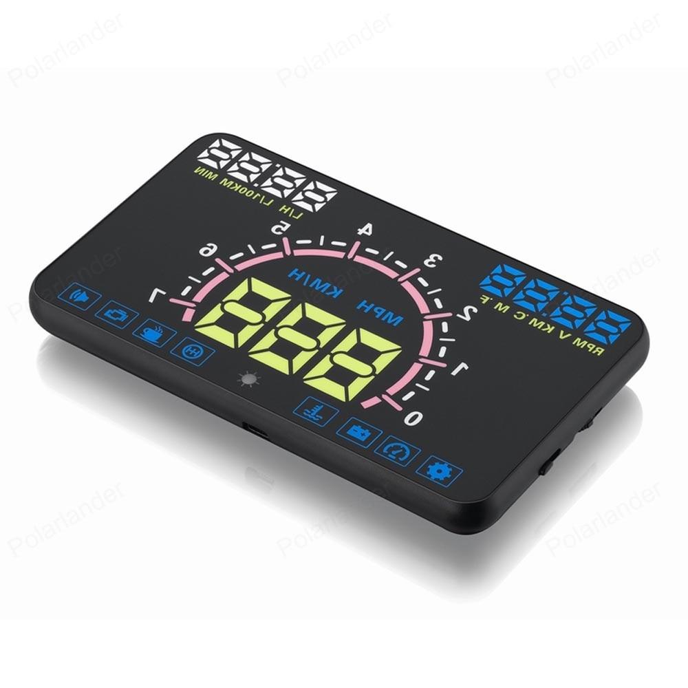 Car head up display Windshield Projector Alarm System  E350 HD 5.8 inch Smart Digital Speedometer  OBD2 HUD display