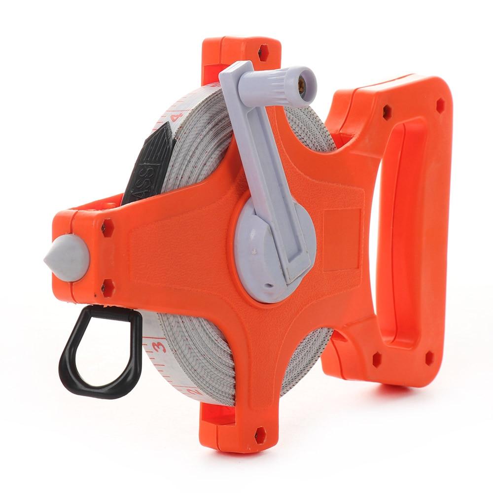 1 rollo de cinta profesional larga Regla de medición cinta bobina abierta cinta de fibra de vidrio cinta métrica para medición de construcción