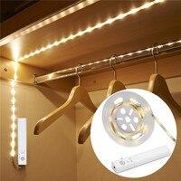 BOLEDENGYE LED Dual Mode Motion Night Light Flexible LED Strip with Motion Sensor Closet Light for Bedroom Cabinet Warn White