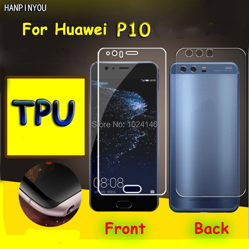 Front / Back Full Coverage Clear Soft TPU Film Screen Protector For Huawei P10 P 10 5.1