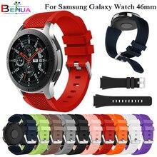 Bracelet en Silicone souple Sport bracelet pour Samsung Galaxy montre 46mm SM-R800 remplacement montre intelligente bracelet bracelet bracelet