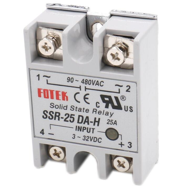 1 PCS Solid State Relay SSR-25-DA-H DC to AC 25A INPUT 3-32VDC OUTPUT 90-480VAC
