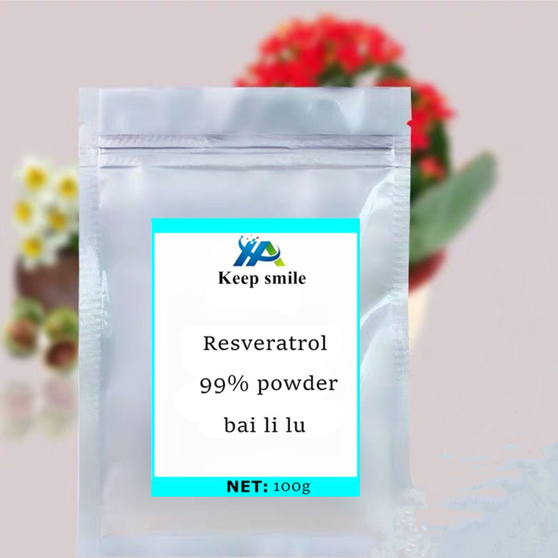 Großhandel Reinheit Polygonum Cuspidatum Extrakt Trans Resveratrol 99% Groß Pulver bai li lu Anti-krebs Nähren schützen leber