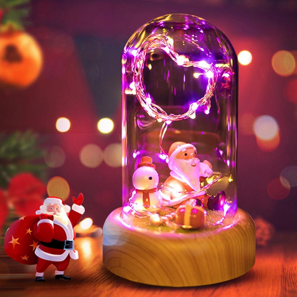 3 форм розы стример бутылки USB Перезаряжаемые светодиодный ночник с Беспроводной Bluetooth Динамик в Стекло украшения настольная лампа