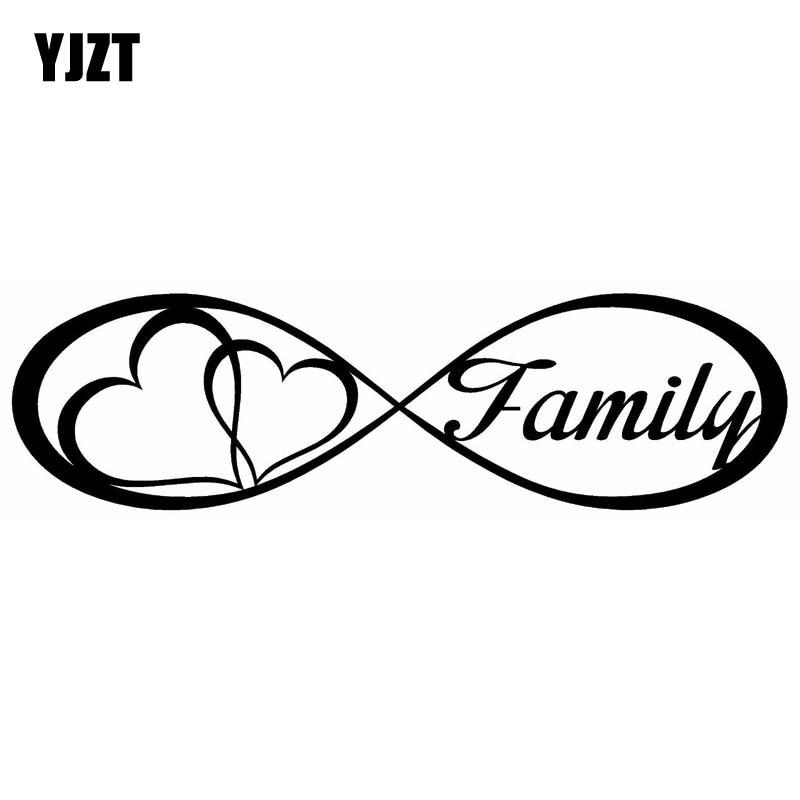 Yjzt 20x5.6cm família amor coração para sempre símbolo decalques de vinil carro adesivo carro-estilo S8-0177