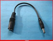 Adaptateur dalimentation cc câble femelle 5.5x2.1mm   Câble de prise mâle 3.5x1.35mm 18cm 0.18m 50 pièces