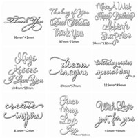 mixed common words metal cutting dies stencil for diy scrapbooking album paper cards making decorative crafts new 2019 die