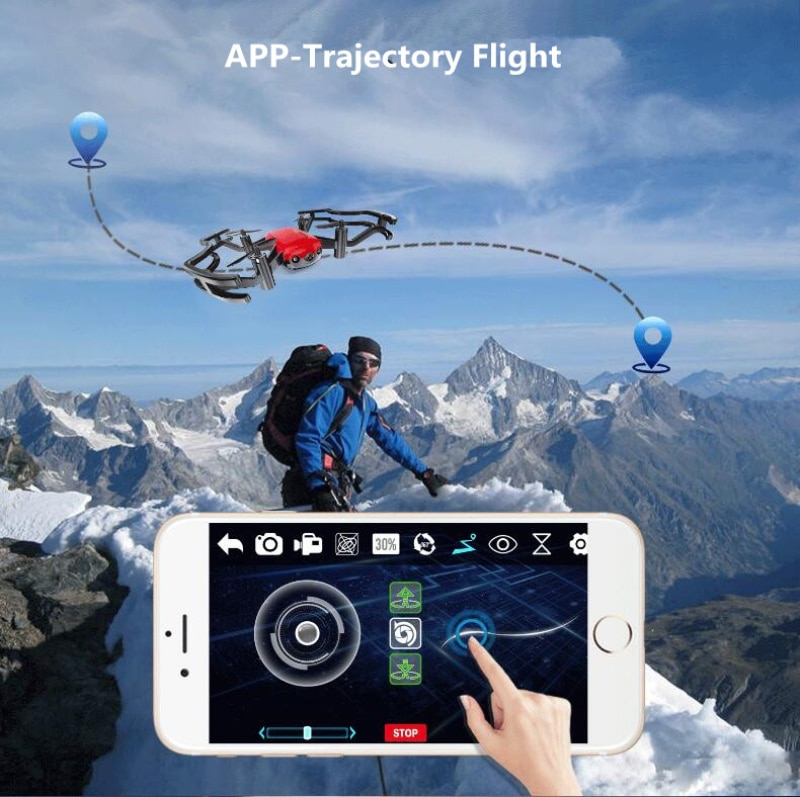 Optical Flow Follow RC Aerial Quadcopter Model 2.0MP WiFi FPV Image Transmission  axis Positioning Aerial Photography RC Drone enlarge